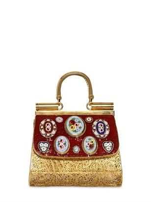 Dolce & Gabbana Gold Filigree Mini Miss Sicily Bag