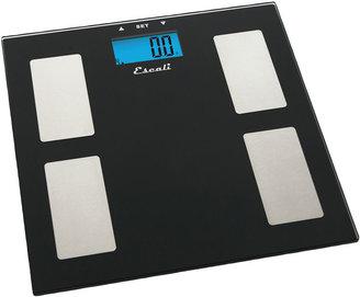 Escali Glass Body Fat Water & Muscle Mass Digital Scale USHM180G