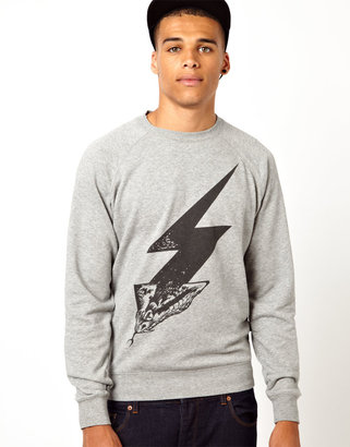Diesel Sweatshirt Lightning Snake Print