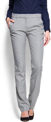 MANGO Straight-leg suit trousers
