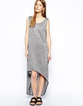 Minimum Metallic Dipped Hem Kiana Dress
