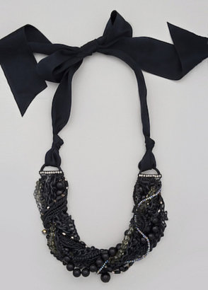 Sequin Rocker Bow Necklace