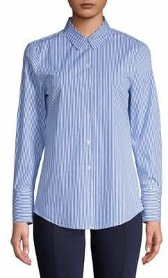 Isaac Mizrahi IMNYC Button-Down Collared Shirt