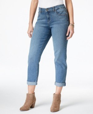 Style&Co. Style & Co Curvy-Fit Cuffed Boyfriend Jeans, Created for Macy's