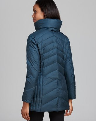Marc New York Down Coat - Mixed Chevron Quilted