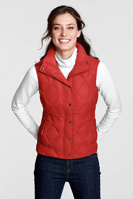 Lands' End Women's Regular Diamond Quilted Down Vest