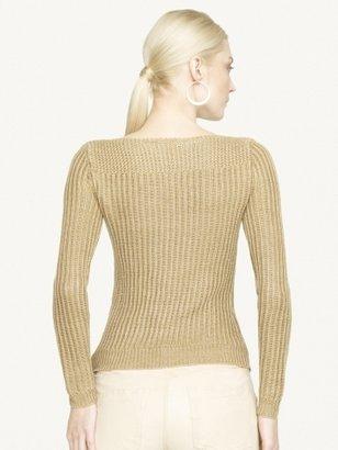 Ralph Lauren Black Label Denim Linen Boatneck Sweater