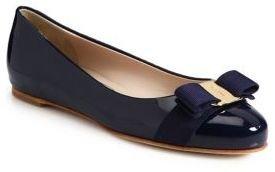 Salvatore Ferragamo Varina Patent Ballet Flats $525 thestylecure.com