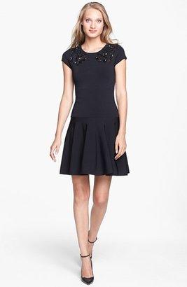 Diane von Furstenberg 'Renee' Embellished Stretch A-Line Dress