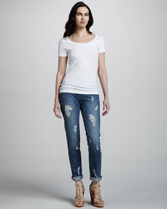Paige Jimmy Deconstructed Cuffed Jeans