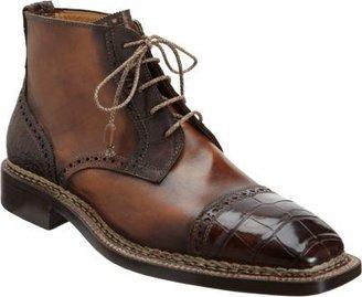 Bettanin & Venturi Croc Cap Toe Derby Boot