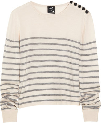 McQ by Alexander McQueen Cropped striped wool sweater