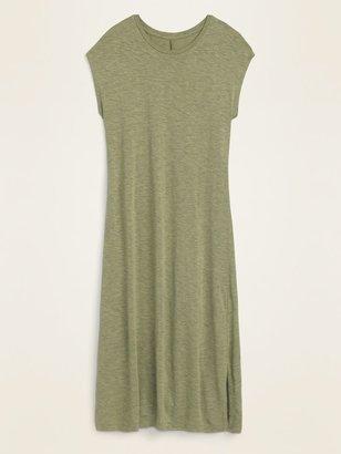 Old Navy Slub-Knit Midi Shift Dress for Women