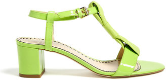 Moschino Cheap & Chic Leather Bow Block Heel Sandals