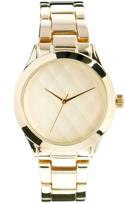 Asos Quilted Dial Boyfriend Watch