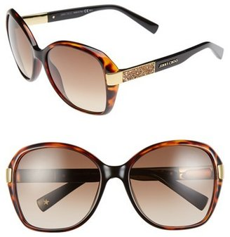 Jimmy Choo 57mm Butterfly Sunglasses $385 thestylecure.com