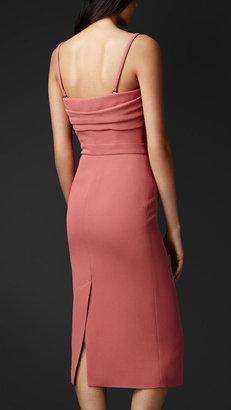 Burberry Wrapped Bodice Crêpe Dress