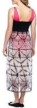 JCPenney Tie-dyed Flyaway Swim Cover-Up Maxi Dress