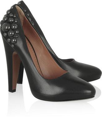 Alaia Stud-embellished leather pumps