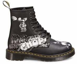 Dr. Martens Originals Rick Griffin Leather Lace-Up Boots