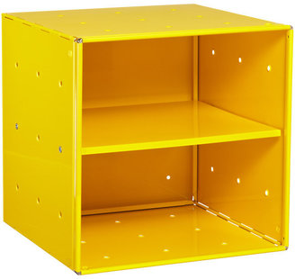 Container Store Yellow Enameled QBO Steel Cube Shelf