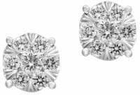 Effy 14K White Gold Stud Earrings with 0.52 TCW Diamonds