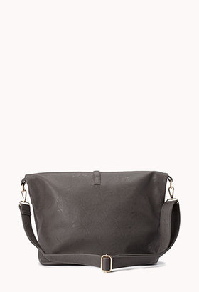 Forever 21 Sleek Faux Leather Holdall