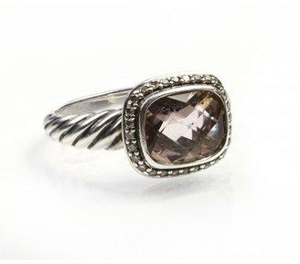 David Yurman very good (VG Noblesse Ring with Morganite & Diamonds