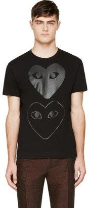 Comme des Garçons Play Black Two Hearts T-Shirt $155 thestylecure.com