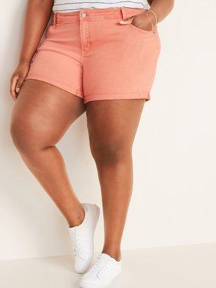 Old Navy Mid-Rise Pop-Color Boyfriend Plus-Size Jean Shorts -- 5-inch inseam