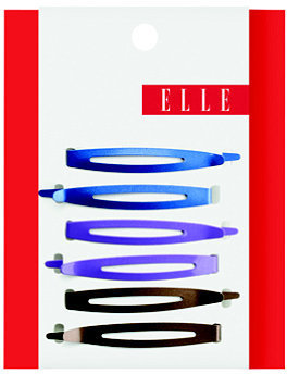 Elle Matte Metallic Oval Bobby Pins 6 Ct
