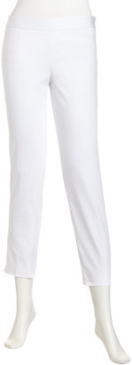 Laundry by Shelli Segal Side Zip Cropped Pants, Optic White
