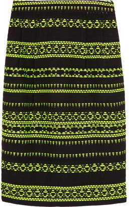 J.Crew Collection neon jacquard pencil skirt