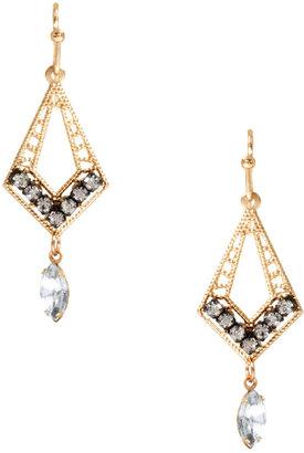 Orelia Filgree Diamond Shape Earring
