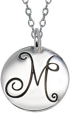 JCPenney Pure Silver Plated M Initial Pendant