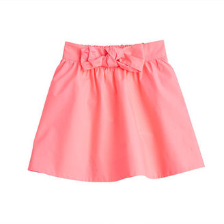 J.Crew Girls' poplin bow skirt