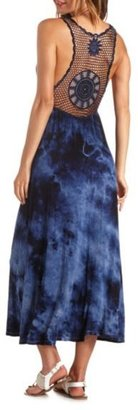 Charlotte Russe Crochet-Back Tie-Dye Maxi Dress