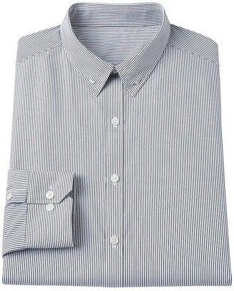 Rock & Republic Rock and republic slim-fit striped hidden button-down collar dress shirt