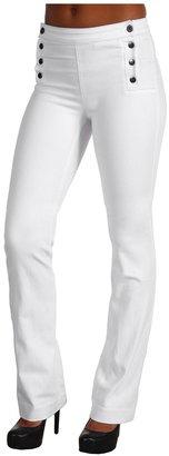 James Jeans Marina Sailor Trouser in Luna White (Luna White) - Apparel