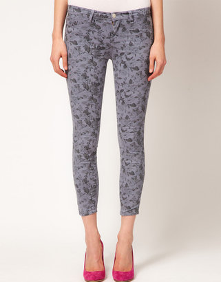J Brand Mid Rise Ankle Jean in Mini Floral Print
