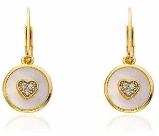Little Miss Twin Stars 14k Gold-Plated Circle Drop Earrings