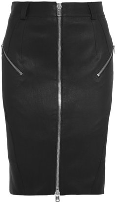 McQ by Alexander McQueen Zipped stretch-leather pencil skirt