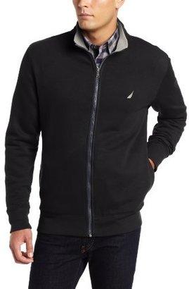 Nautica Men's Full Zip Mockneck Fleece Sweater