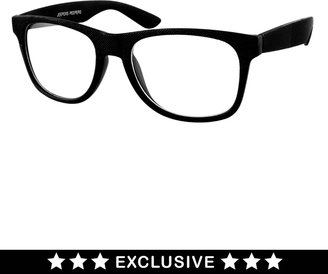Jeepers Peepers Don Exclusive To ASOS Black With Clear Lens Glasses