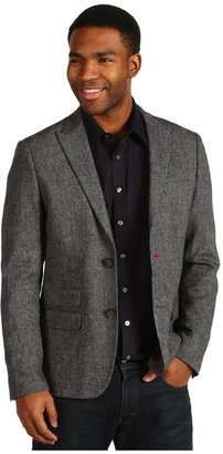 Original Penguin Tweed 2 Button Peaked Lapel Jacket (True Black) - Apparel
