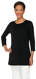 Liz Claiborne New York Essentials Tunic with Scalloped Trim $25.89 thestylecure.com