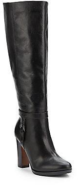 Pour La Victoire Isabeli Black Leather Heeled Riding Boots
