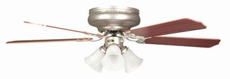 Radionic Hi Tech Rosemont 52 in. Satin Nickel Ceiling Fan with Light Kit and 5 Blades