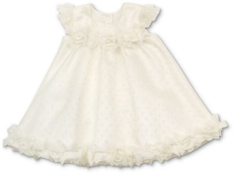 Rare Editions Baby Dress, Baby Girls Puff-Sleeve Floral Dot