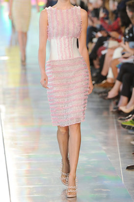 Christopher Kane Ruffled silk-organza and PVC dress